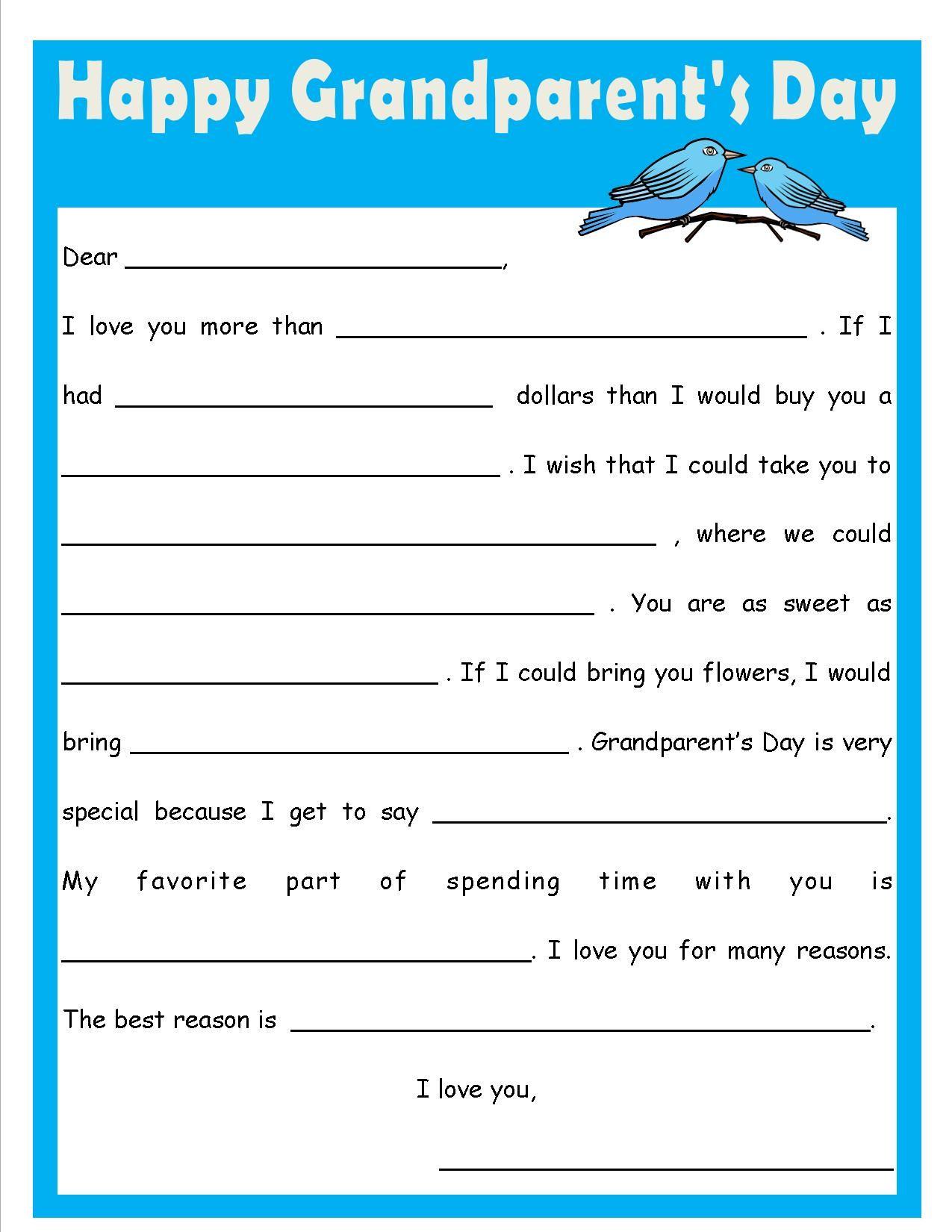 Grandparent S Day Fill In