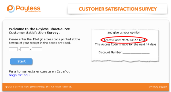 Payless Shoesource Customer Satisfaction Survey  WwwTellpayless