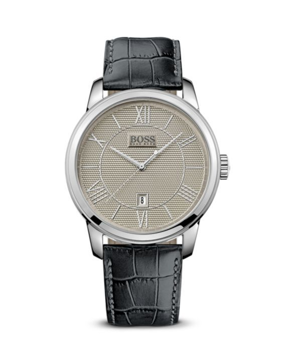 BOSS HUGO BOSS Classico Round Stainless Steel Watch, 43mm | Bloomingdales's