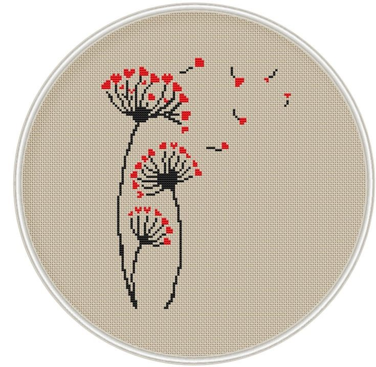 Dandelion cross stitch pattern Counted cross by MagicCrossStitch