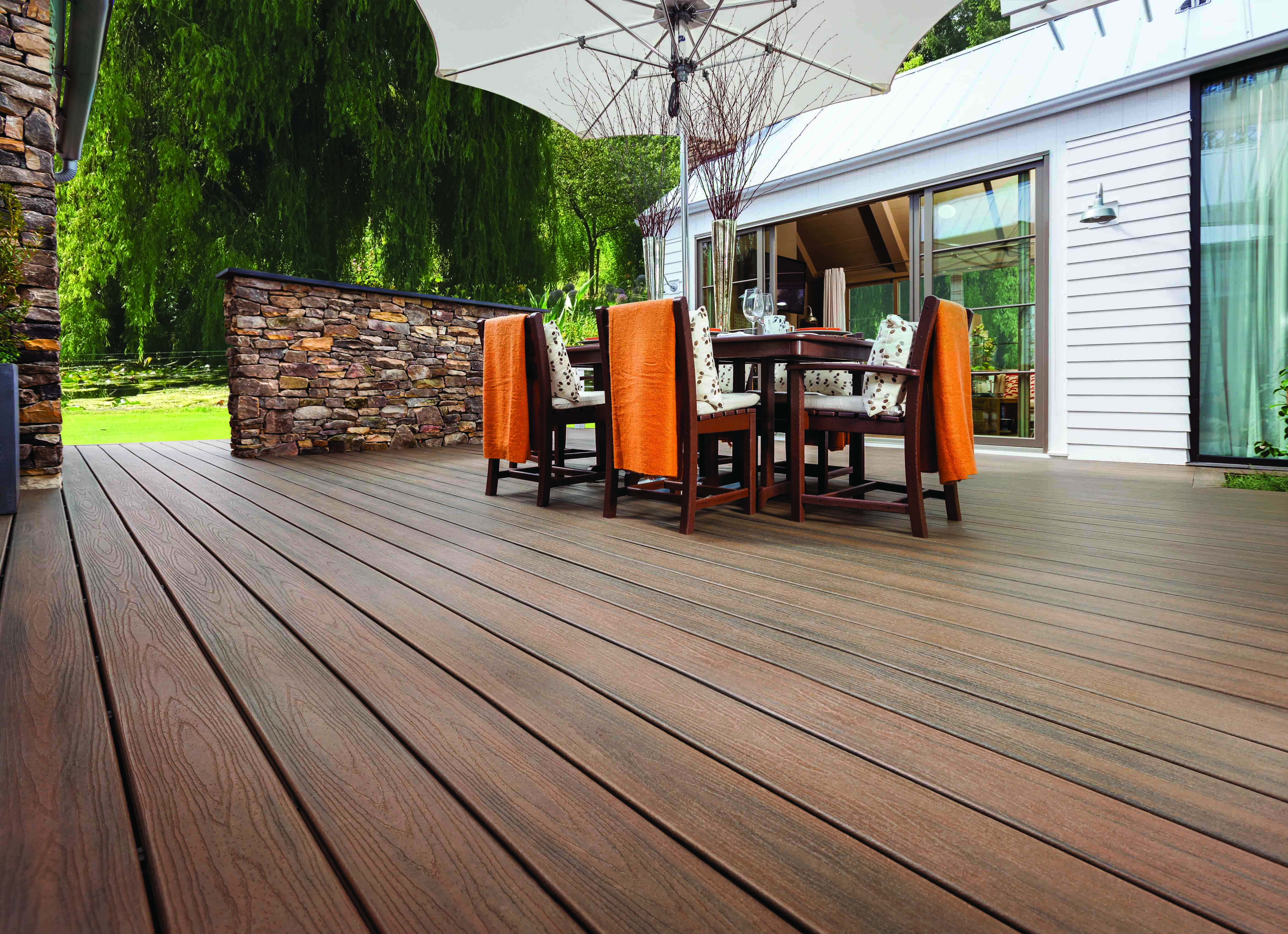 Wpc terrasse trex wood alternative deck railing lighting and