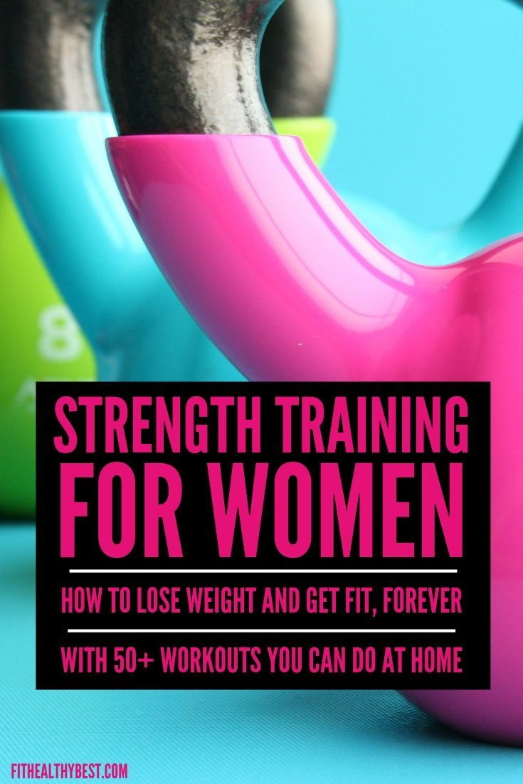 How to lose weight and get fit...FOREVER!  This strength training for women guide will break down ho...