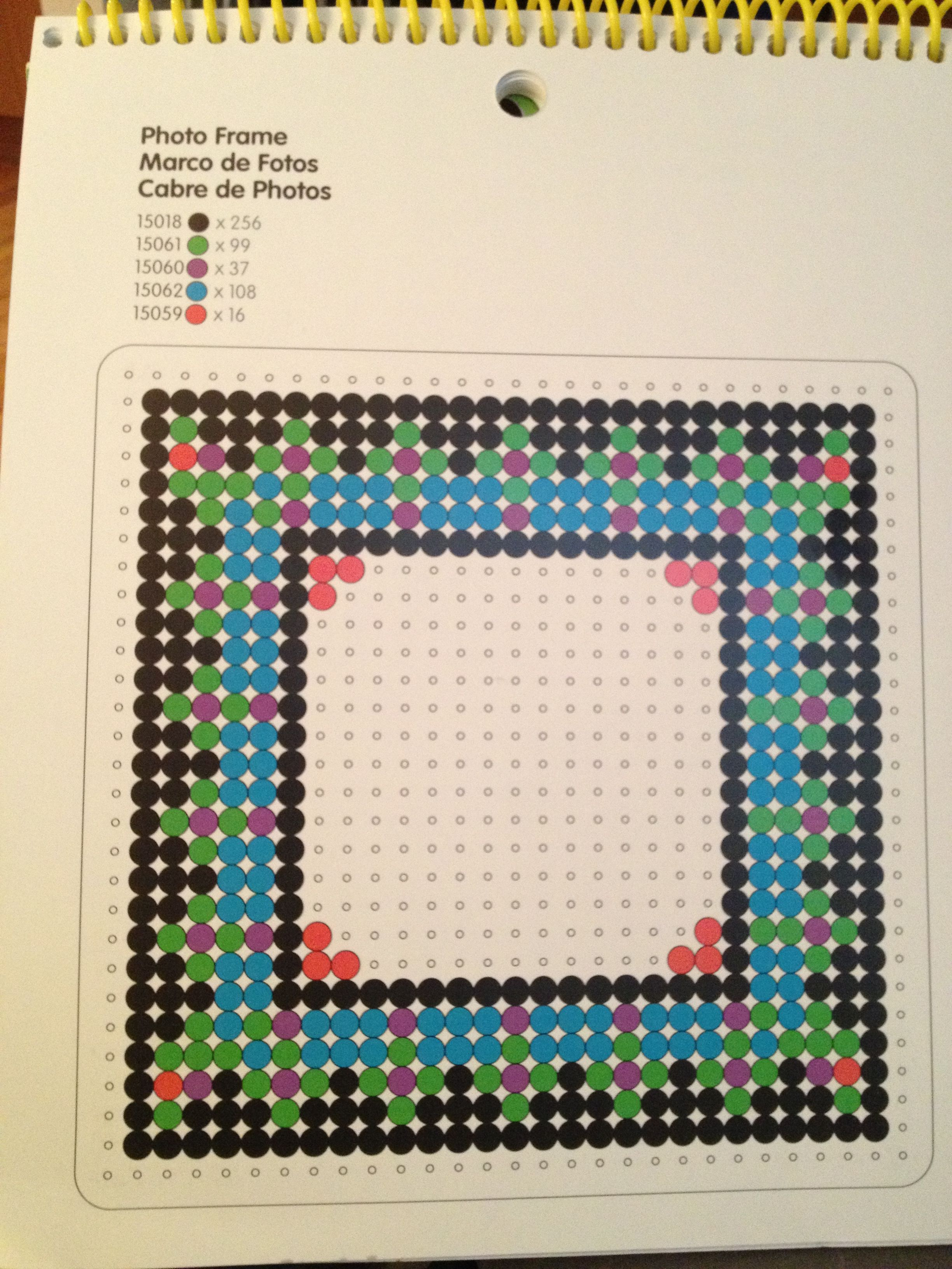Perler beads photo frame | термомозаика | Pinterest | Perler Beads ...