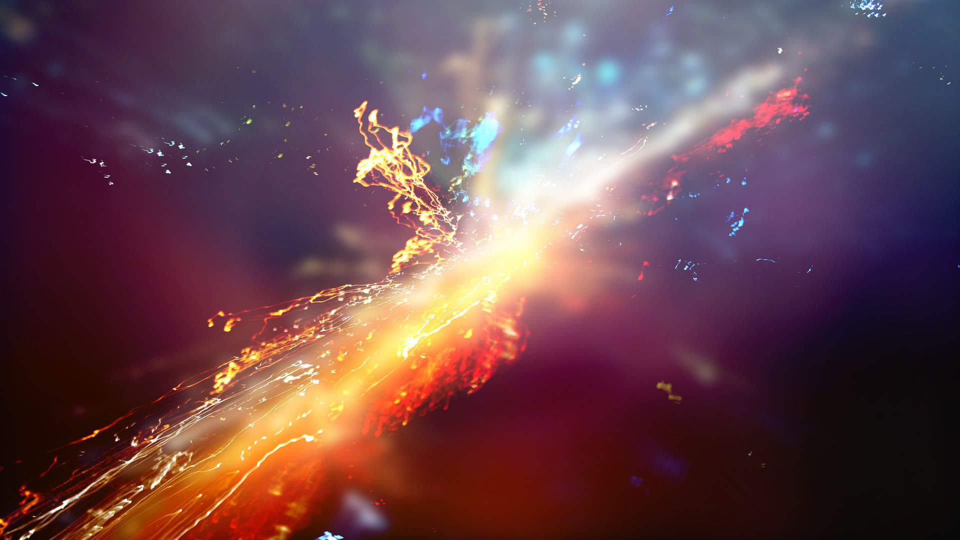 Theaqua Supernova Glowing Art Space Documentaries Colorful Wallpaper
