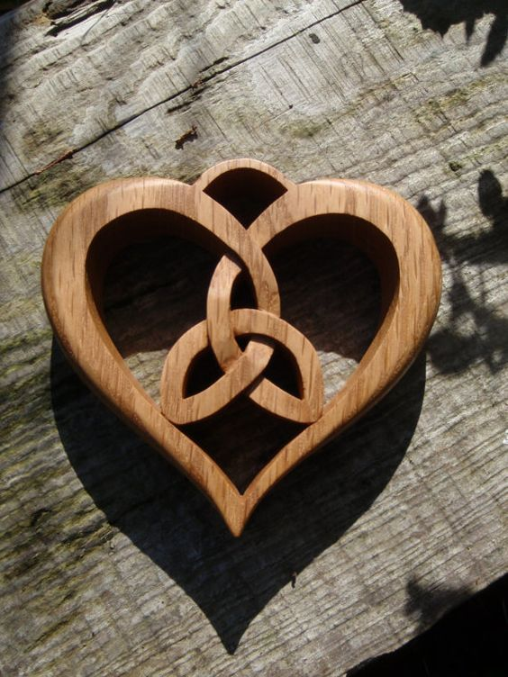 Large Oak Celtic Heart Wall Decor Hanging от