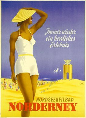 Original Reise Plakat Norderney HANKE 1952