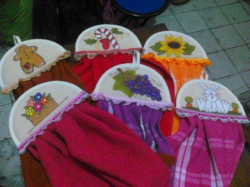 Toallas para cocina pintadas a mano hechos por m - Cocinas pintadas ...