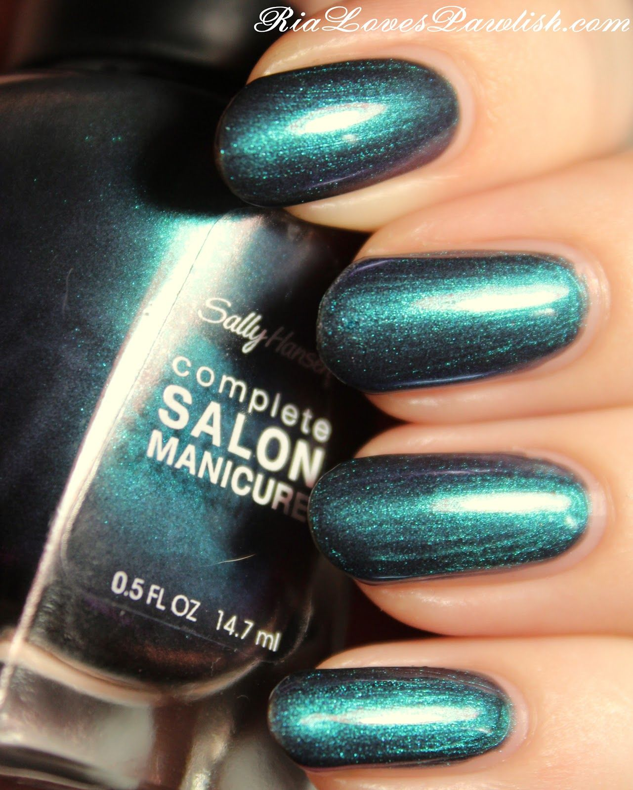 sally hansen complete salon manicure black and blue | ria loves
