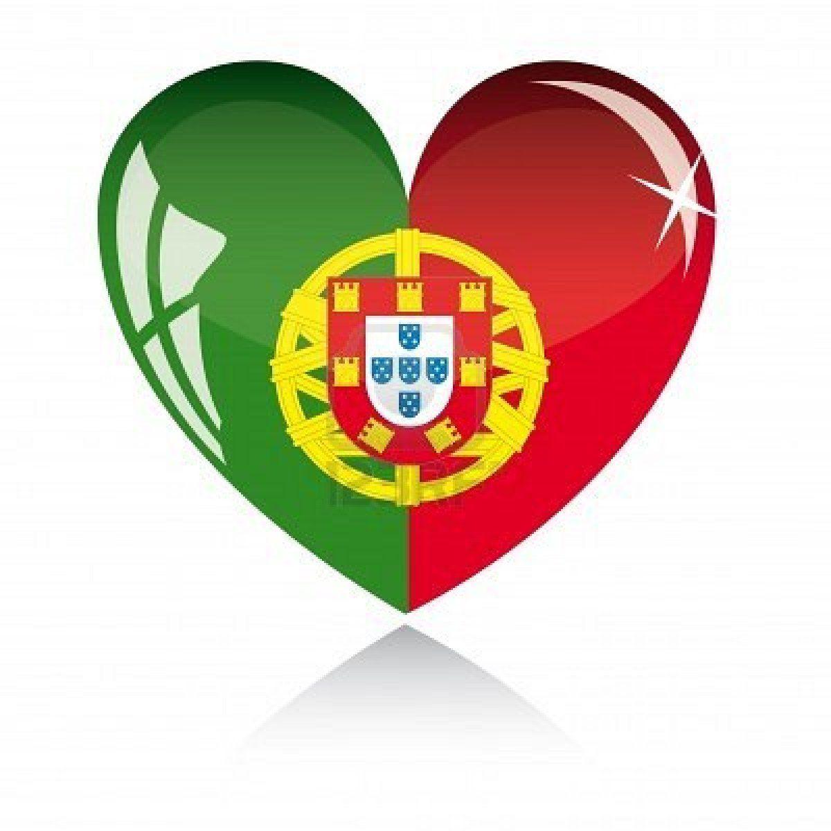 Coeur Avec Portugal Drapeau Texture Isolee Sur Un Fond Blanc Portugal Drapeau Drapeau Portugais Tatouage Portugais
