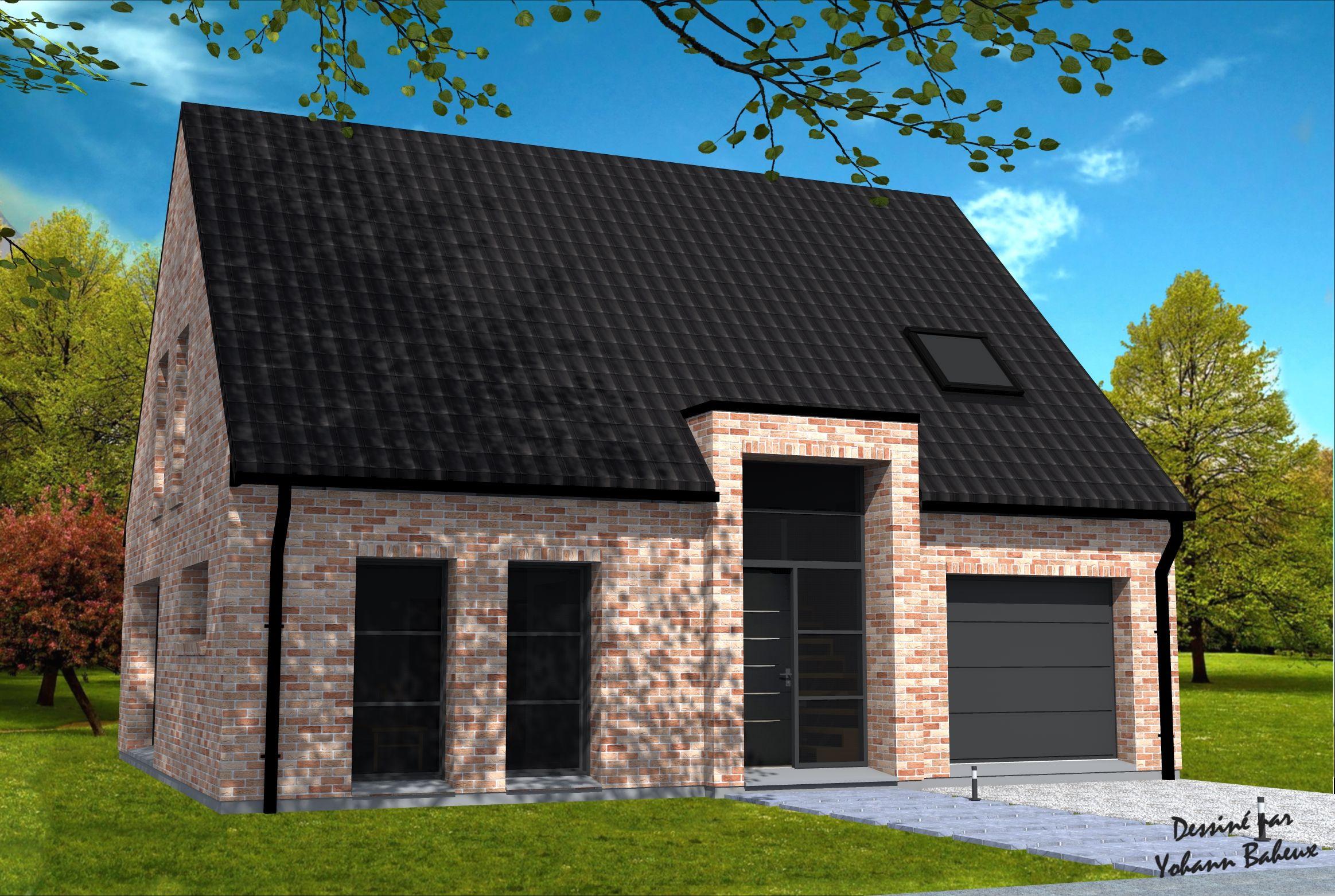 maison en briques maison en projet maison en brique maison et construction maison. Black Bedroom Furniture Sets. Home Design Ideas