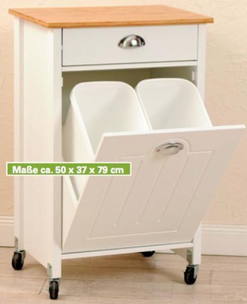 Küchenwagen Mit 2 Abfalleimern