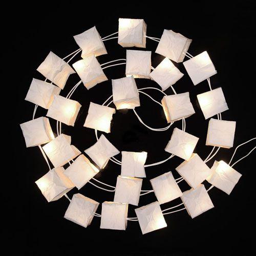 Guirlande électrique avec cube de papier blanc Tsé & Tsé | For My ...