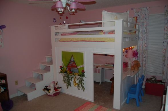 6 Year Old Loft Bed | Loft bed, Girls loft bed, Girl room