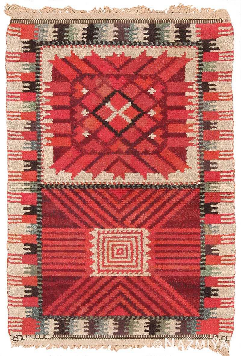Beautiful Small Vintage Scandinavian Marta Maas Rug 70365 By Nazmiyal In 2020 Scandinavian Rug Scandinavian Textiles Rugs