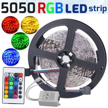 Led Light Strips Walmart Free Shippingbuy Casung 16Ft5M Multicolor Strip Light 5050 Smd
