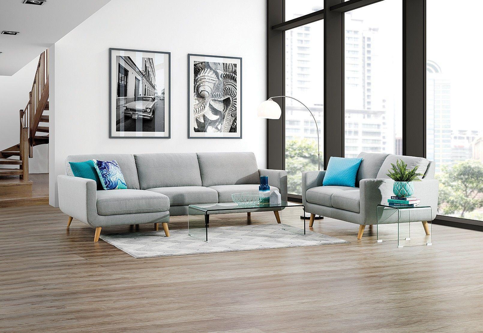 Phoebe Fabric Sofa Chaise Pair Super A Mart Dream Furniture Furniture Fabric Sofa
