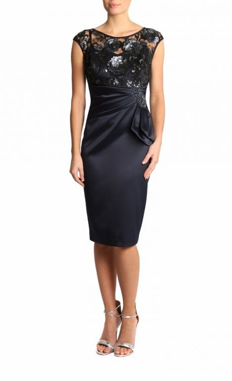 Neptune Satin & Lace Dress | Anthea Crawford | Lace dress