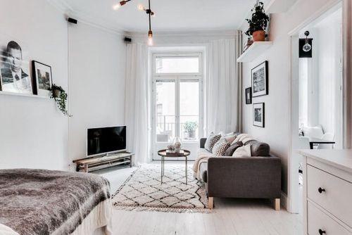 EllaandEleanor First apartment Pinterest Small living, Studio