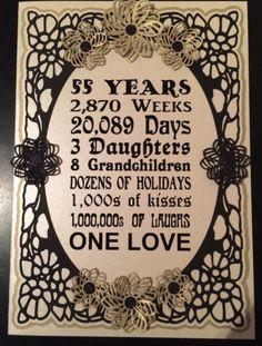 55th Wedding Anniversary Cakes