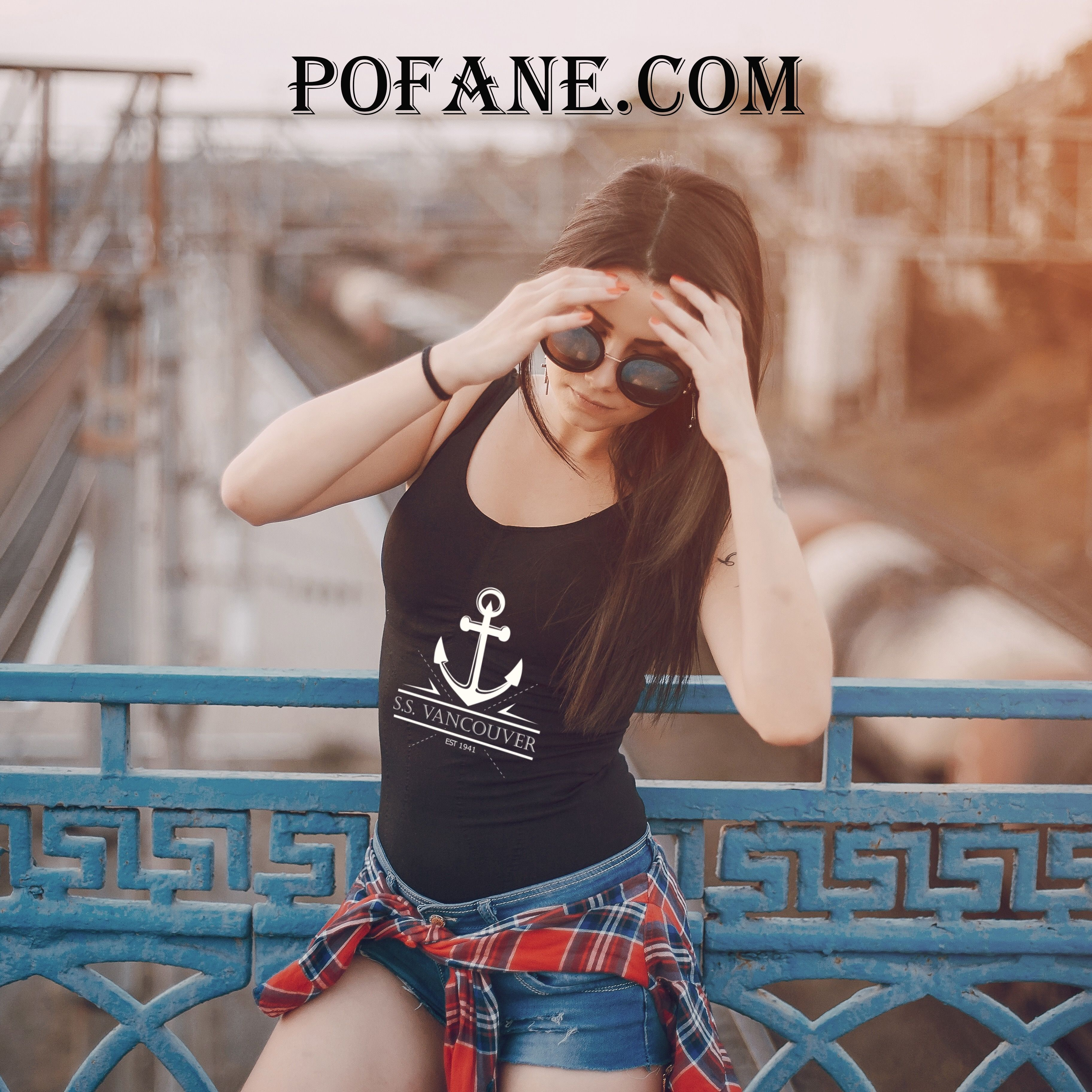 SS Vancouver tank top anchor clothing