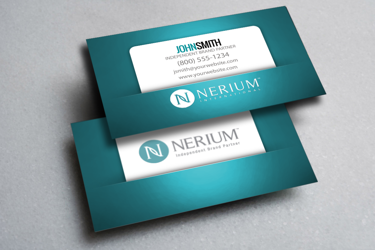 Nerium Brand Partners Expand Your New Business With One Of Our Elegant New Business Card Desi Free Business Cards Printing Business Cards Business Card Design