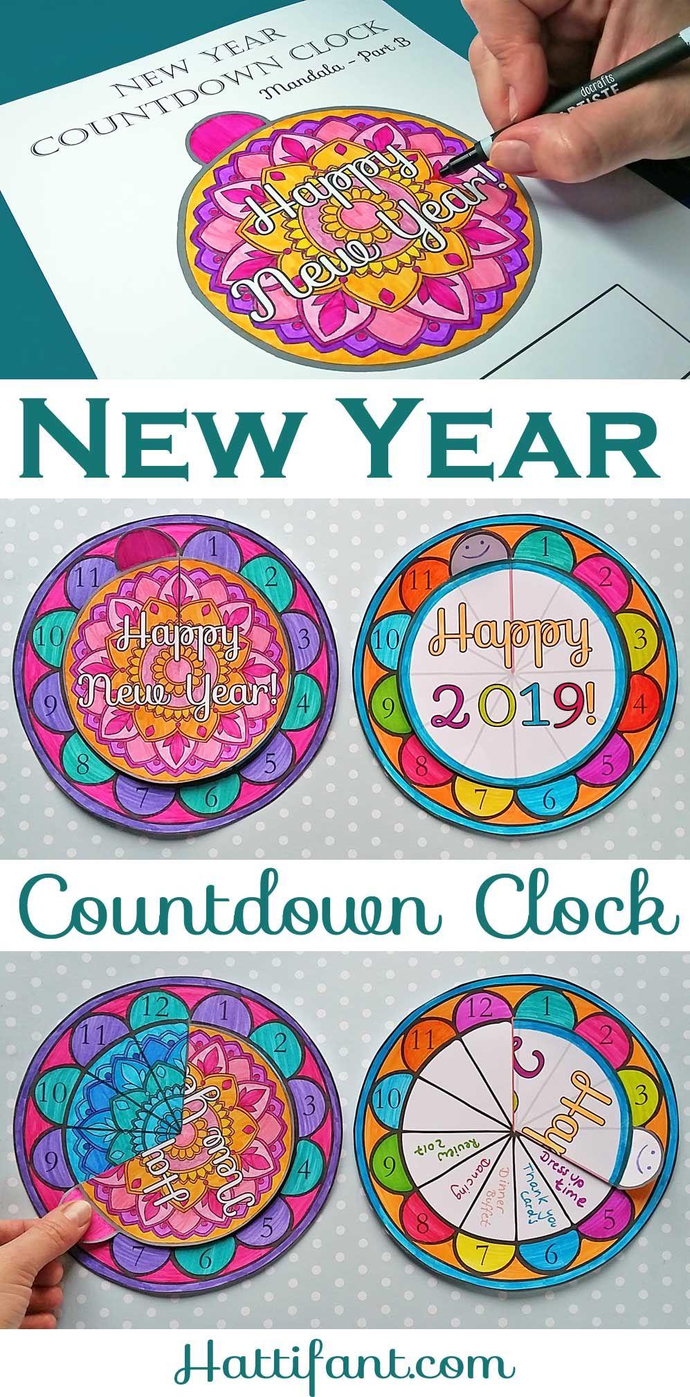 NEW YEAR Countdown clock, New years countdown, Countdown