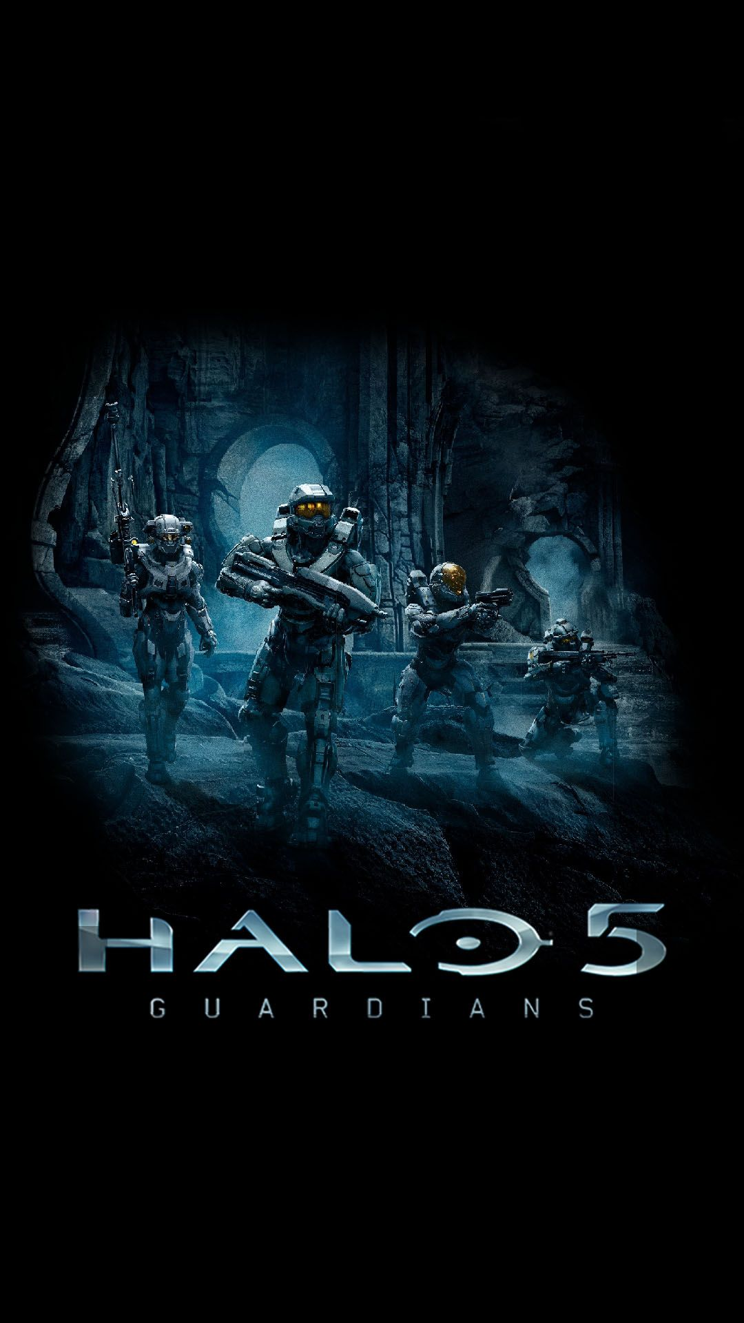 halo 5 guardians blue team windows phone android wallpapers