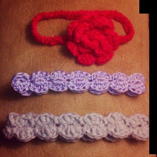 Newborn crochet headbands