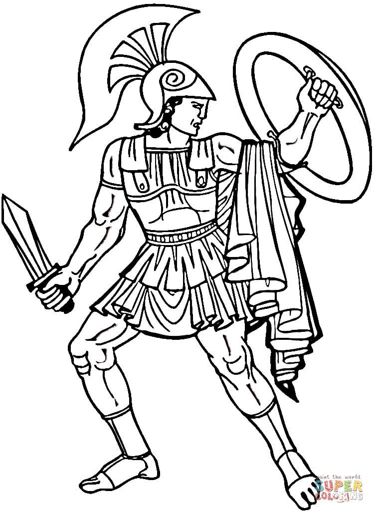 warrior coloring pages for kids - photo#5