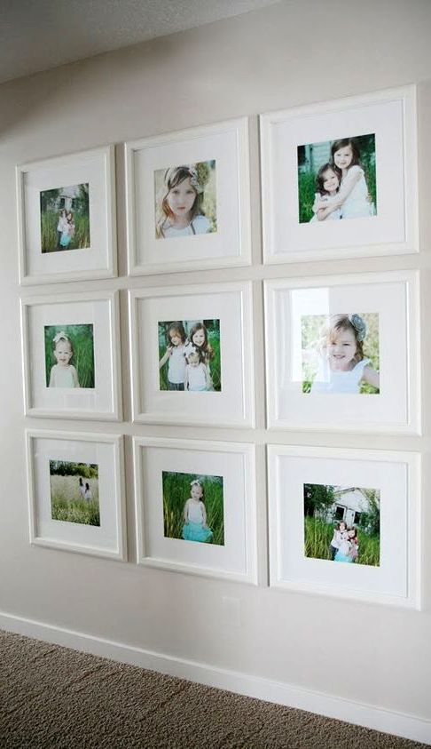 Family photo wall photos in ikea frames