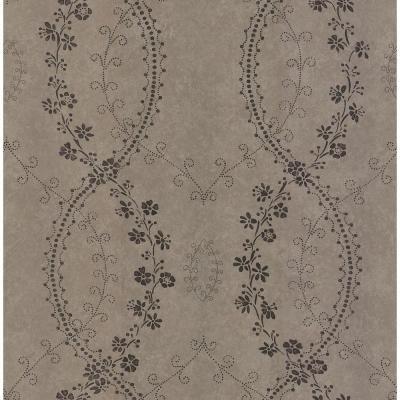 56 sq. ft. Stencil Floral Wallpaper