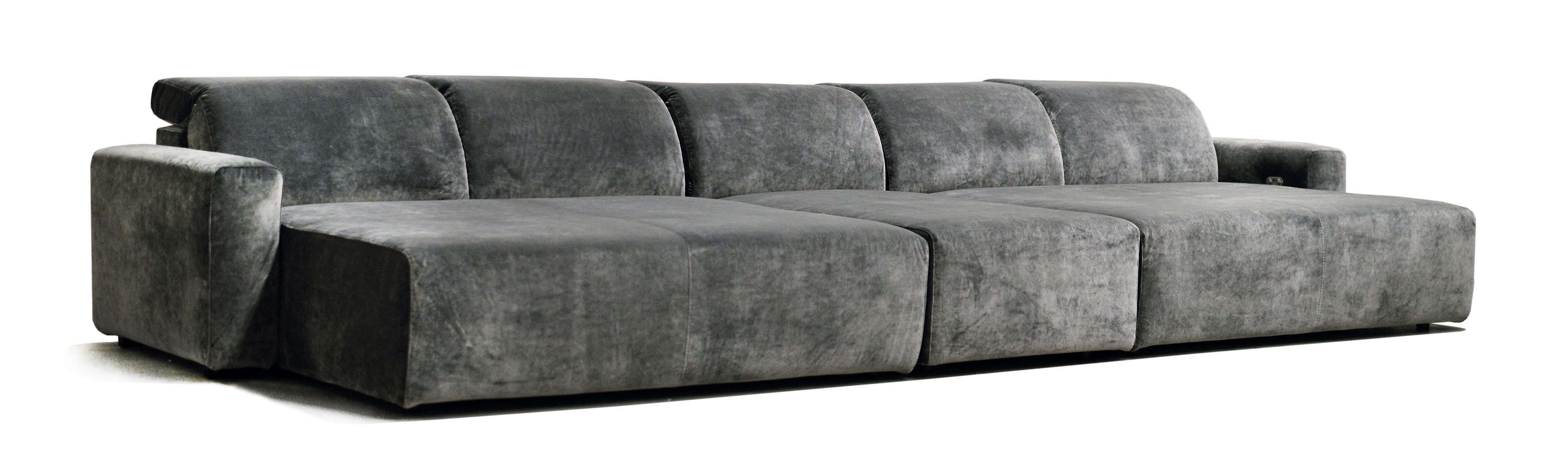 large cinema daybed grey velvet daybed home cinema seating home