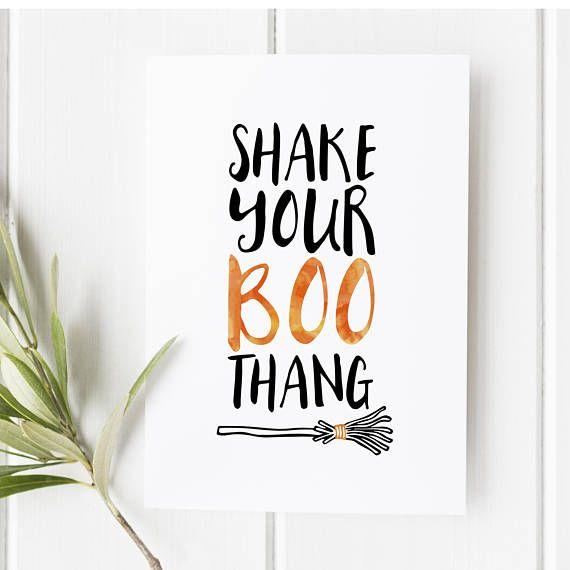 Shake your boo thang - Halloween sign - Halloween decor - Halloween - print halloween decorations