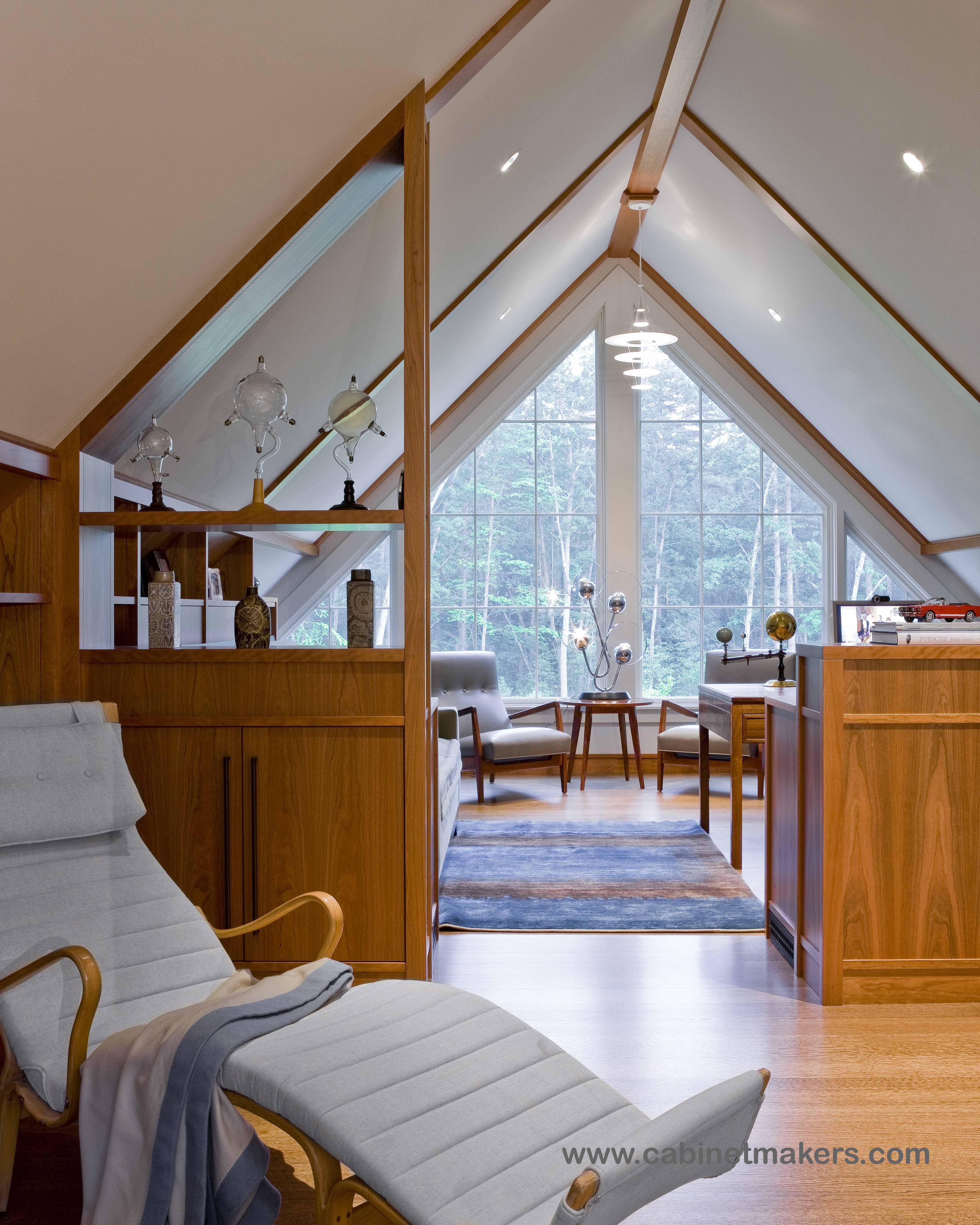 Acton Home Office. Millwork Design: Paul Reidt / Interior