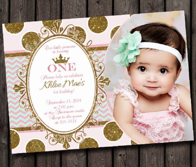 1st Birthday Invitation Templates Photoshop Princess Birthday Invitations Photo Birthday Invitations Baby Birthday Invitations