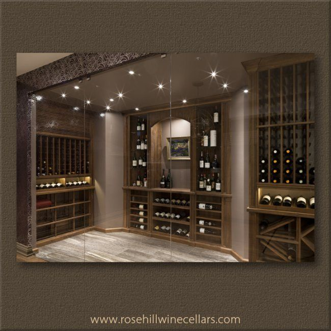 Walnut Winecellar With Beeswax Finish From Rosehill Wine Cellars