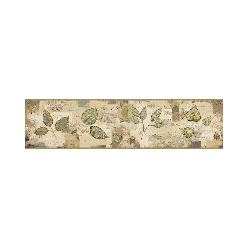 York Wallcoverings Border Portfolio II Pressed Leaves
