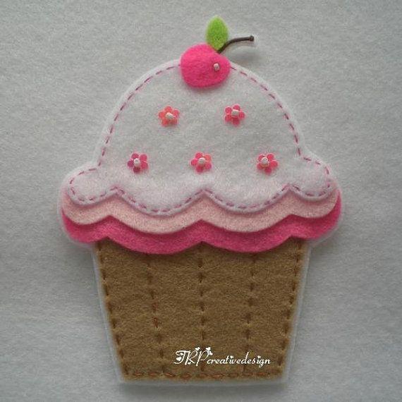 Comida De Fieltro Fieltro Cupcake Adornos Die Cut Cupcakes