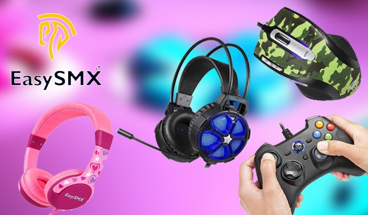 Easysmx Gaming Headset Mouse Controllers Kids Headphones Review Kids Headphones Headphones Gaming Headset