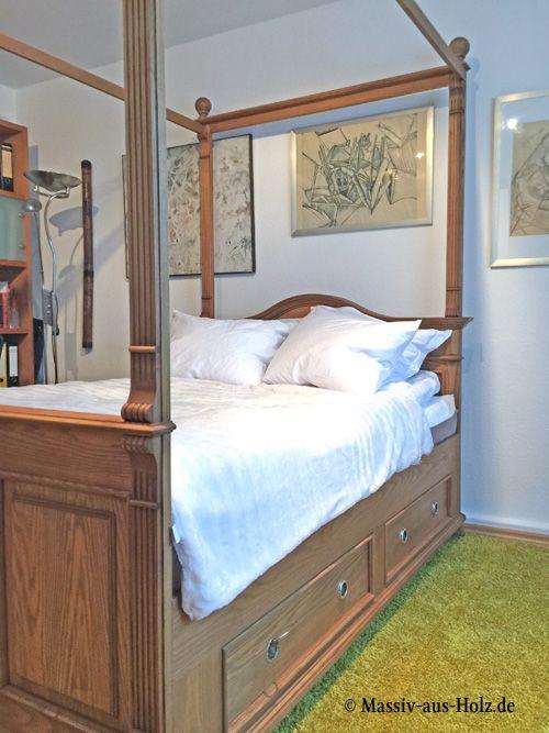 himmelbett mit schubladen gebaut f r die ewigkeit wohnen homestyle. Black Bedroom Furniture Sets. Home Design Ideas