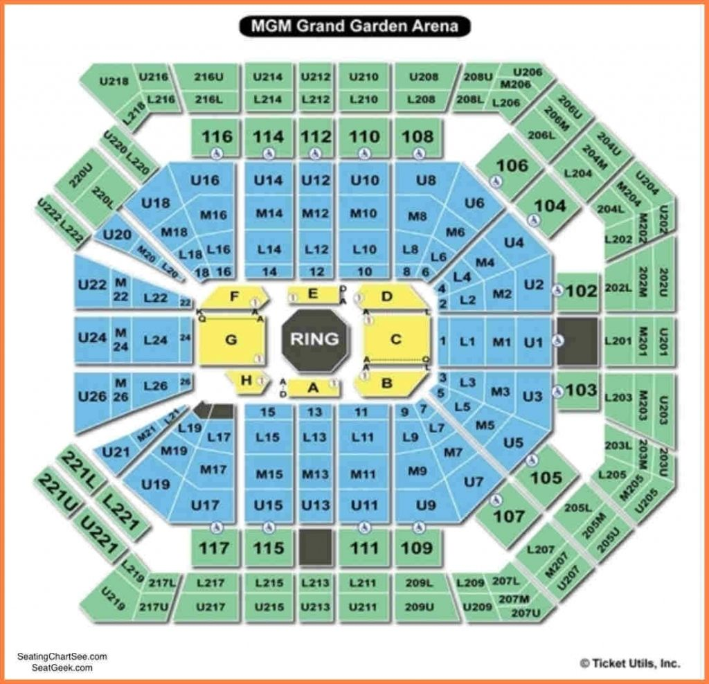 Mgm Grand Seating Chart Di 2020 Konser