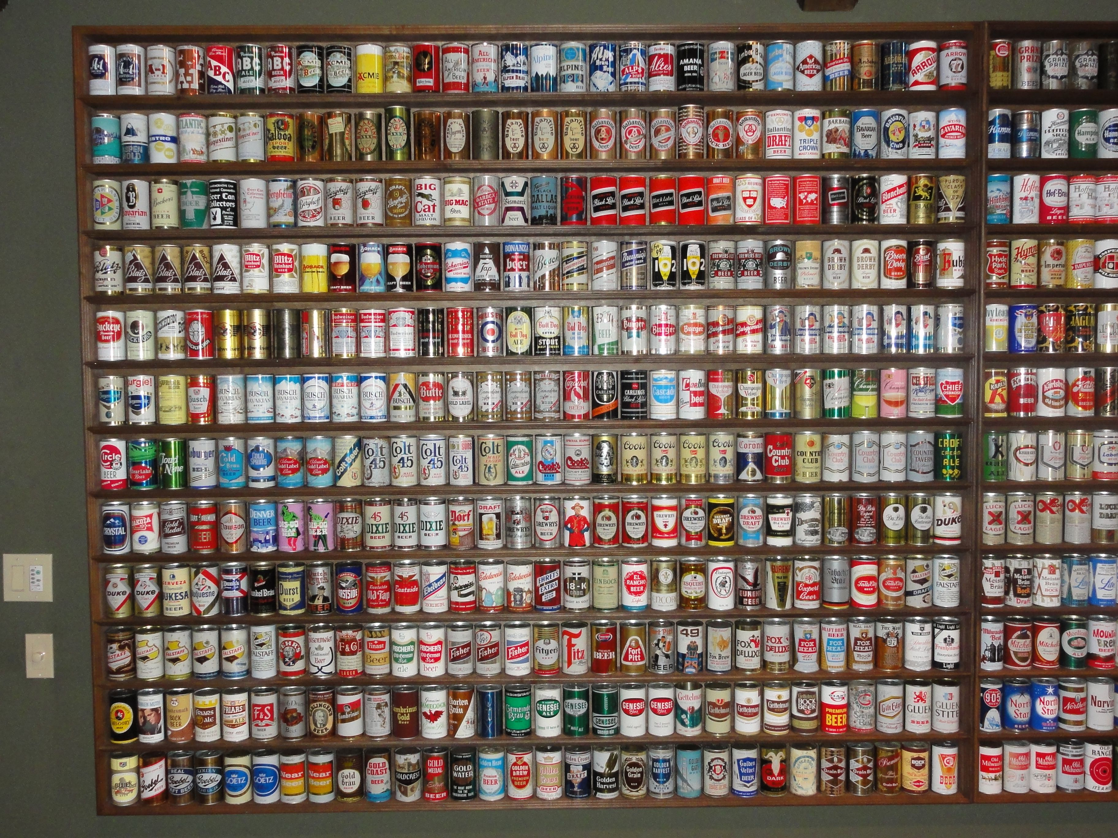 Old Beer Can Displays Google Search Display Wall Shelves