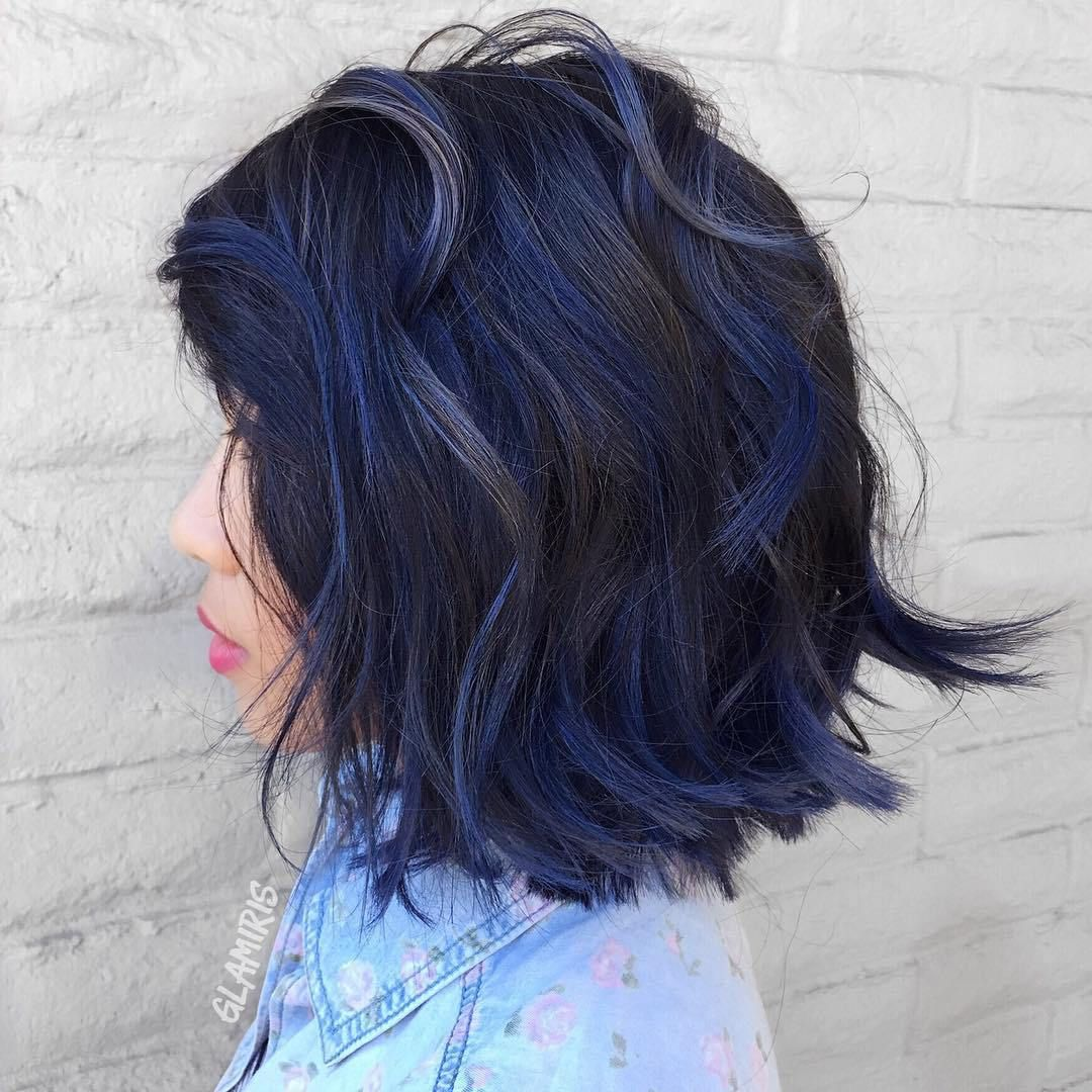Image Result For Black Hair With Teal Underneath Underlights Hair Blue Hair Hair Styles