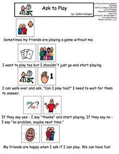 Ask to Join Play Social Story   Visual social stories