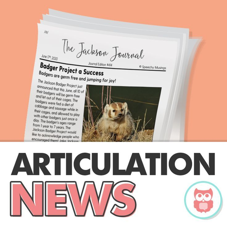 These articulation sound loaded news articles are a perfect speech therapy activity for middle school articulation or mixed groups. From Speechy Musings.