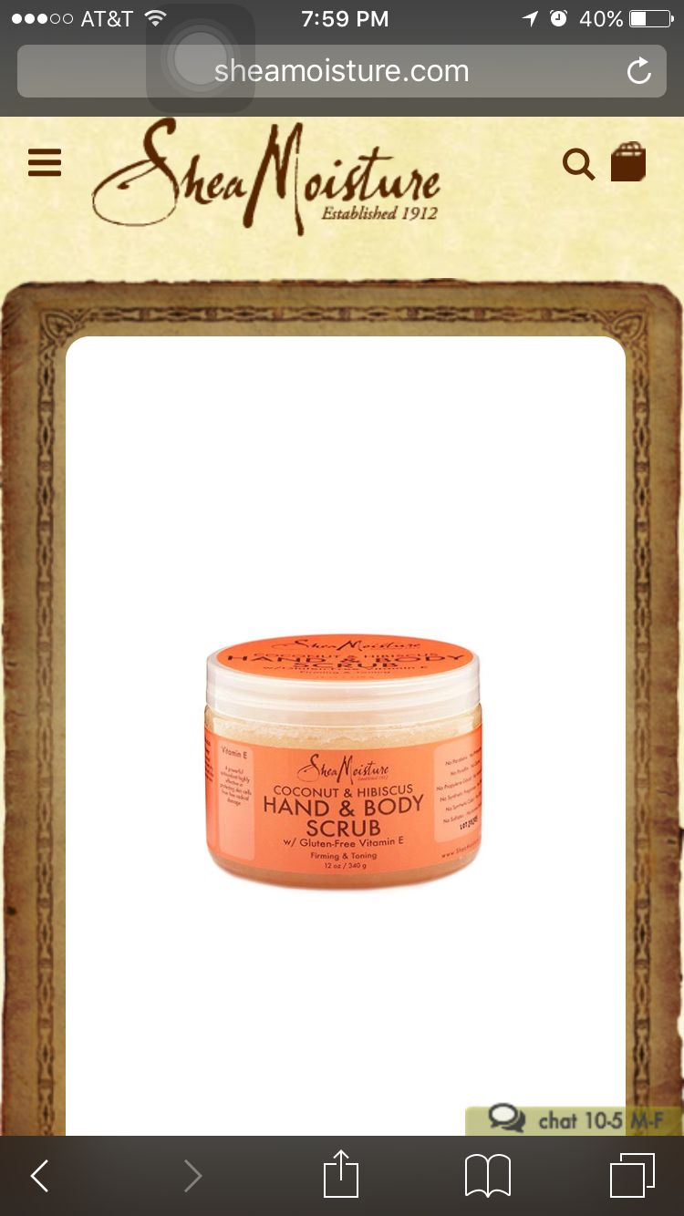 Holy grail body scrub. Makes the skin incredibly soft and smells so good