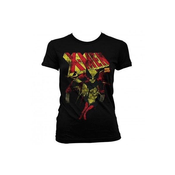 501bb56f5 Marvel Womens T Shirt Distressed X Men Wolverine (29 AUD) ❤ liked on  Polyvore featuring men's fashion, men's clothing, men's shirts, men's t- shirts, mens ...