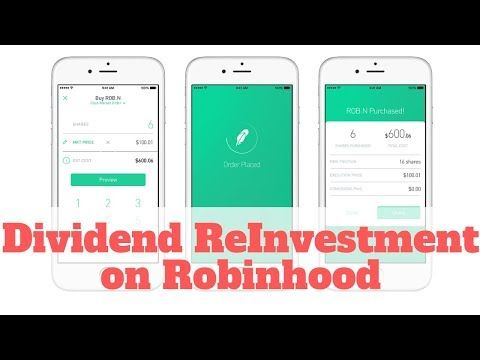 Robinhood DRIP Dividend Reinvestment Plan on the