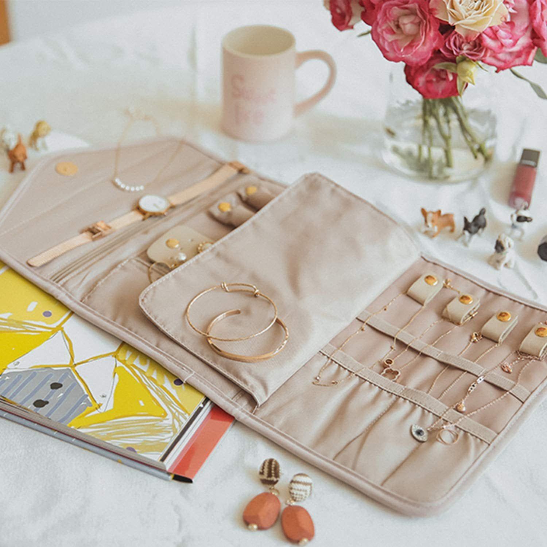 Bagsmart travel jewellery foldable jewelry case travel