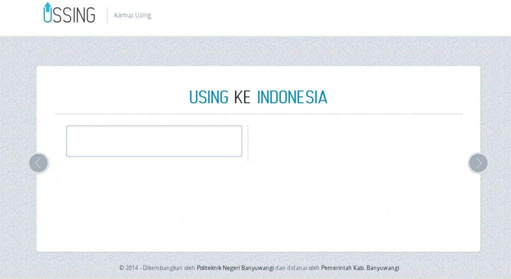 Aplikasi Android Kamus Bahasa Banyuwangi Aplikasi Android